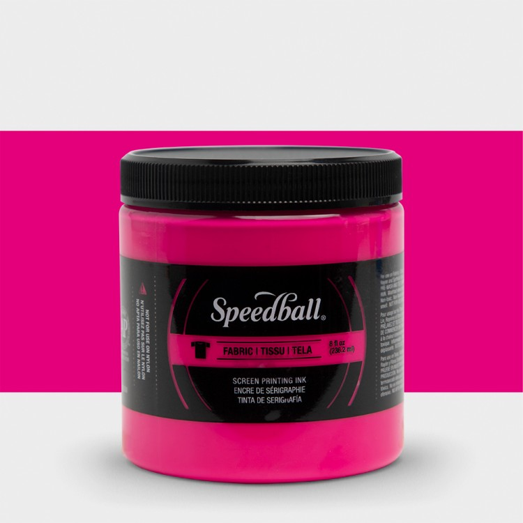 Speedball : Fluorescent Fabric Screen Printing Ink : 8oz : Magenta
