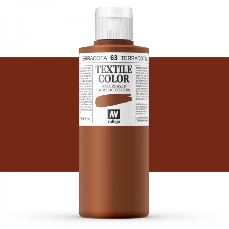 Vallejo : Textile Paint : 200ml : Indian Red
