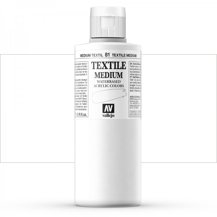 Vallejo : Textile Paint : 200ml : Textile Medium