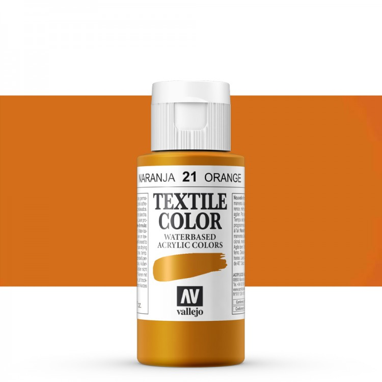 Vallejo : Textile Paint : 60ml : Orange