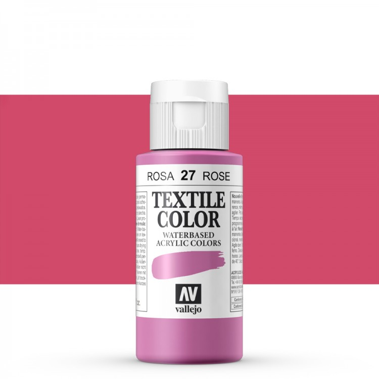 Vallejo : Textile Paint : 60ml : Bengali Rose