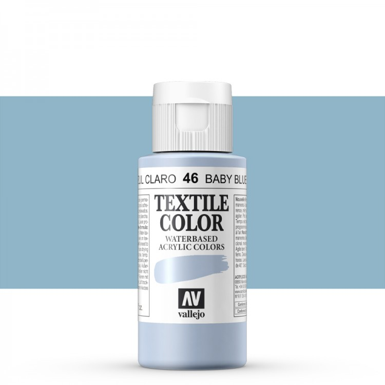 Vallejo : Textile Paint : 60ml : Baby Blue