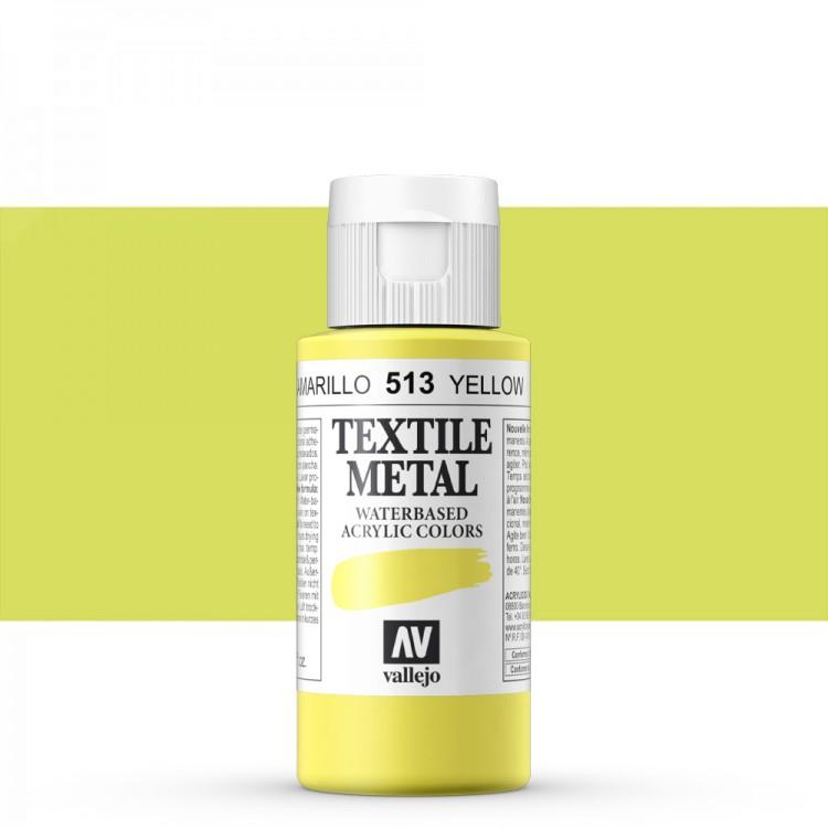 Vallejo : Textile Paint : 60ml : Metallic Yellow Pearl