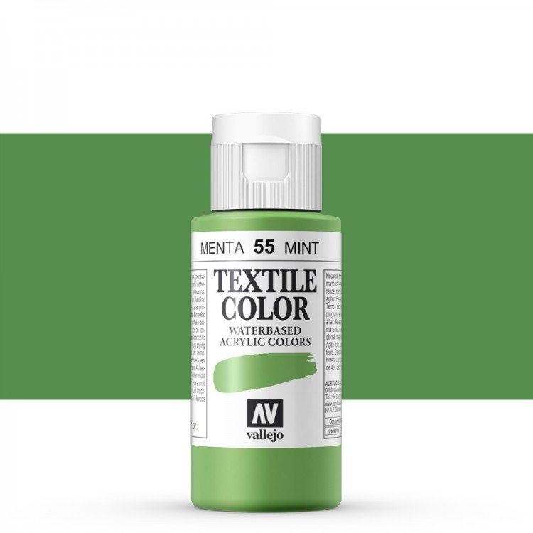 Vallejo : Textile Paint : 60ml : Mint