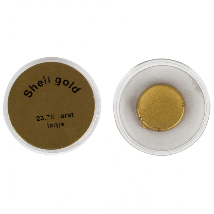 Handover : Shell Gold Watercolour Paint Pan : Gold 23.75 Ct : Large