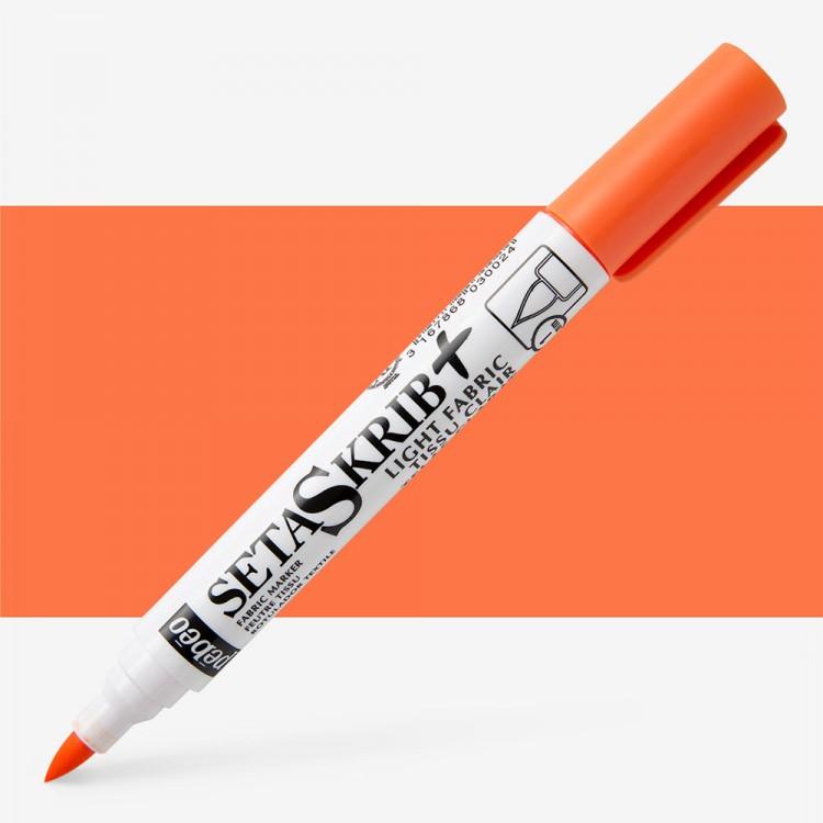 Pebeo Setaskrib+ Fabric Marker Brush Tip Orange