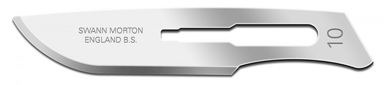 Swann Morton : Scalpel Blade No 10 for No.3 Handle (pack of 5) BLISTER PK