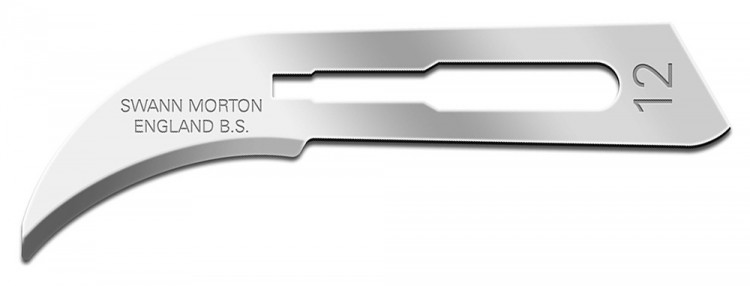 Swann Morton : Scalpel Blade No 12 for No.3 Handle (pack of 5)