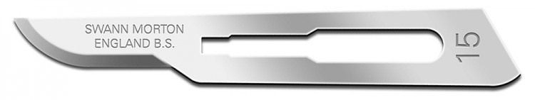 Swann Morton : Scalpel Blade No 15 for No.3 Handle (pack of 5)