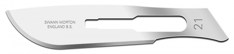 Swann Morton : Scalpel Blade No 21 for No.4 Handle (pack of 5)