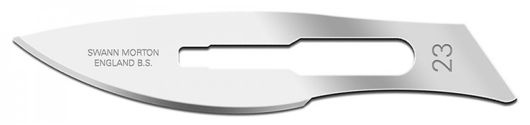 Swann Morton : Scalpel Blade No 23 for No.4 Handle (pack of 5)