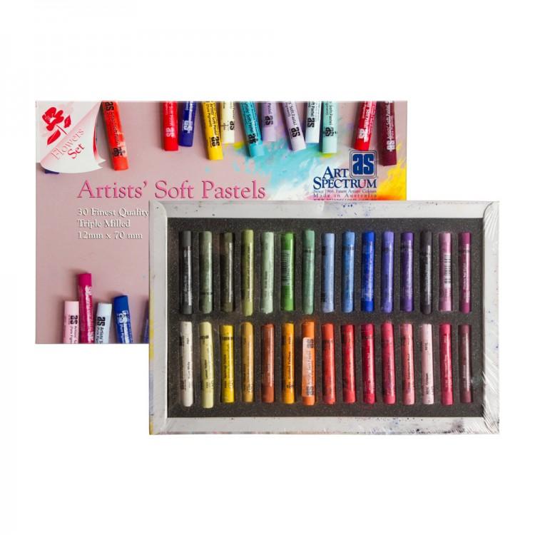 Art Spectrum : Soft Pastel : Set of 30 : Flowers