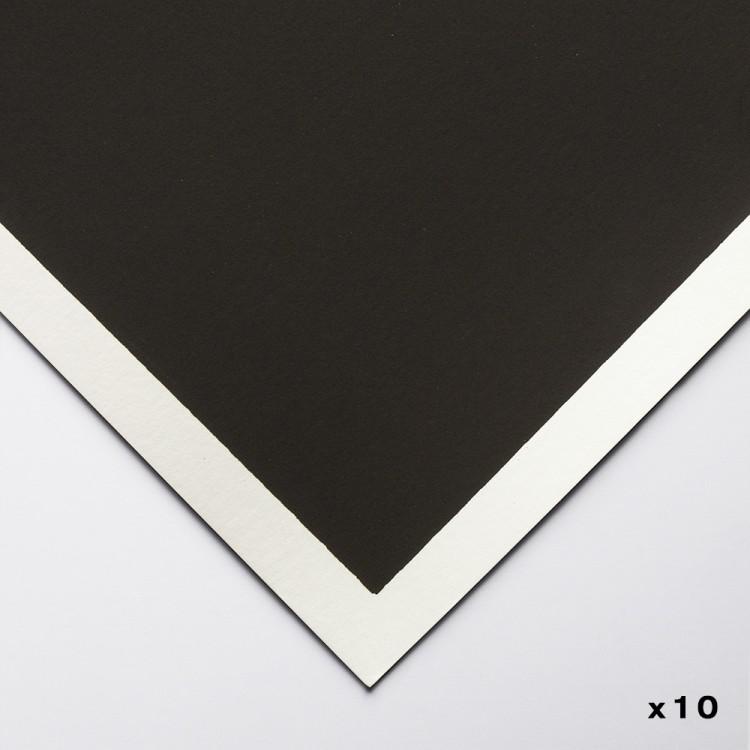 Art Spectrum : Colourfix Pastel Paper : 50x70cm : Deep Black : Pack of 10