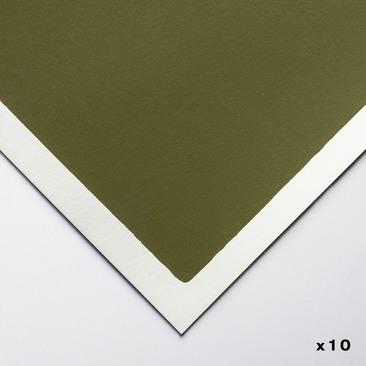 Art Spectrum : ColourFixPastel Paper : 50x70cm : Olive Green : Pack of 10