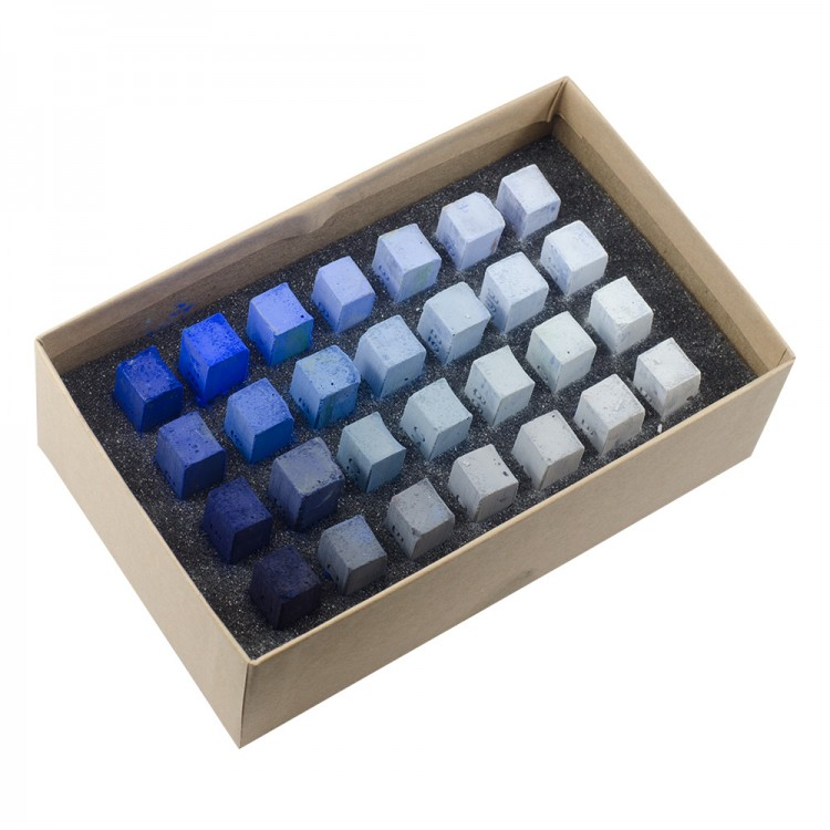 Blue Earth : Soft Pastel : 28 Stick Box Set : Blue