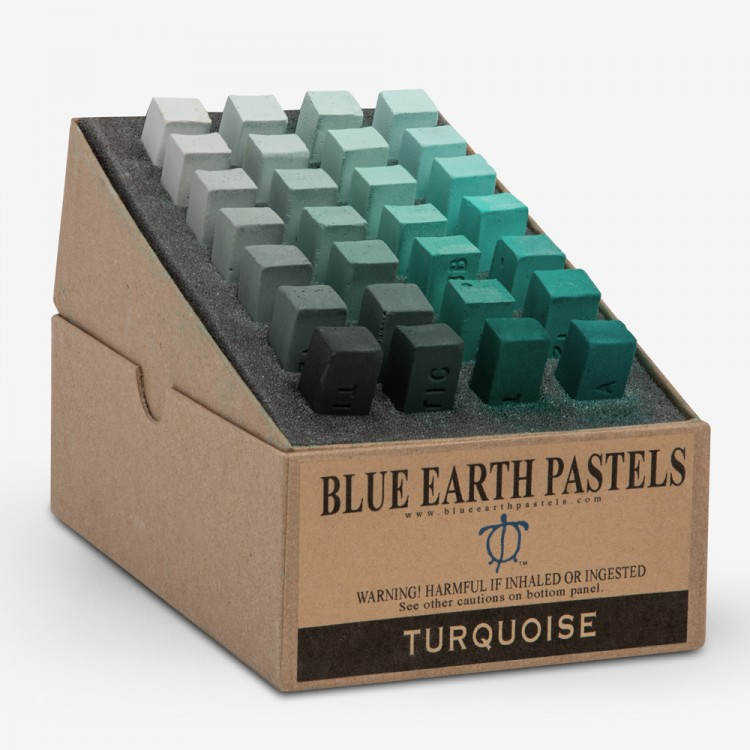 Blue Earth : Soft Pastel : 28 Stick Box Set : Turquoise