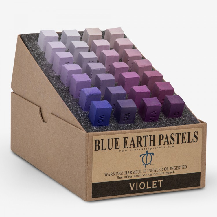 Blue Earth : Soft Pastel : 28 Stick Box Set : Violet