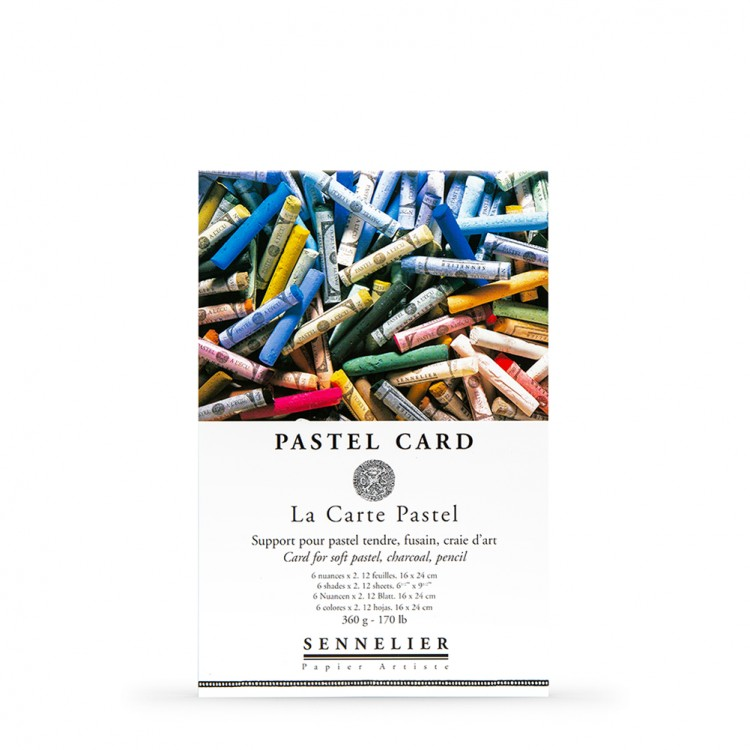 Sennelier : Soft Pastel Card Pad : 360gsm : 12 Sheets : 6 Colours : 24x16cm