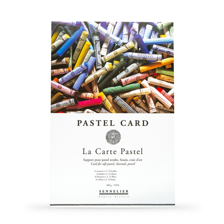 Sennelier : Soft Pastel Card Pad : 360gsm : 12 Sheets : 6 Colours : 32x24cm