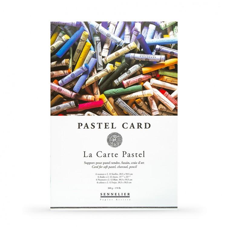 Sennelier : Soft Pastel Card Pad : 360gsm : 12 Sheets : 6 Colours : 60x40cm