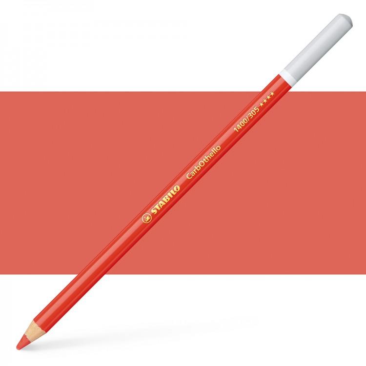 Stabilo : Carbothello : Pastel Pencil : Vermillion Red Tone : 305