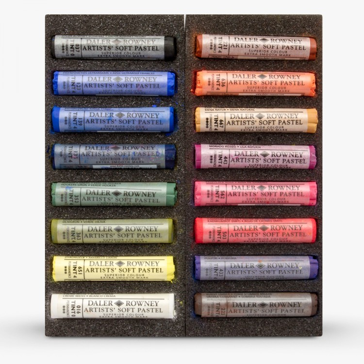 Daler Rowney : Artists' Soft Pastel : Set of 16 : Assorted Selection