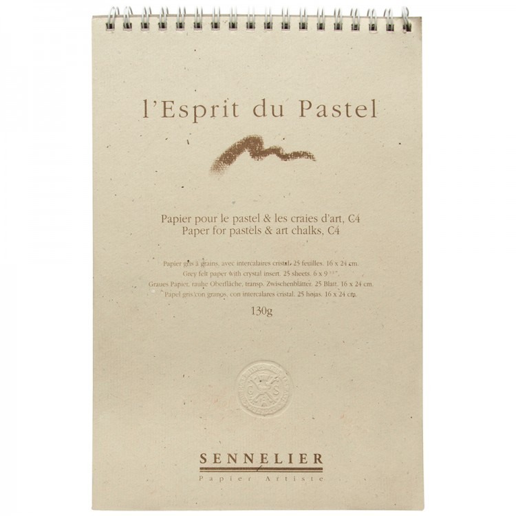 Sennelier : Soft Pastel Paper Pad : 130gsm : 25 Sheets : 24x16cm