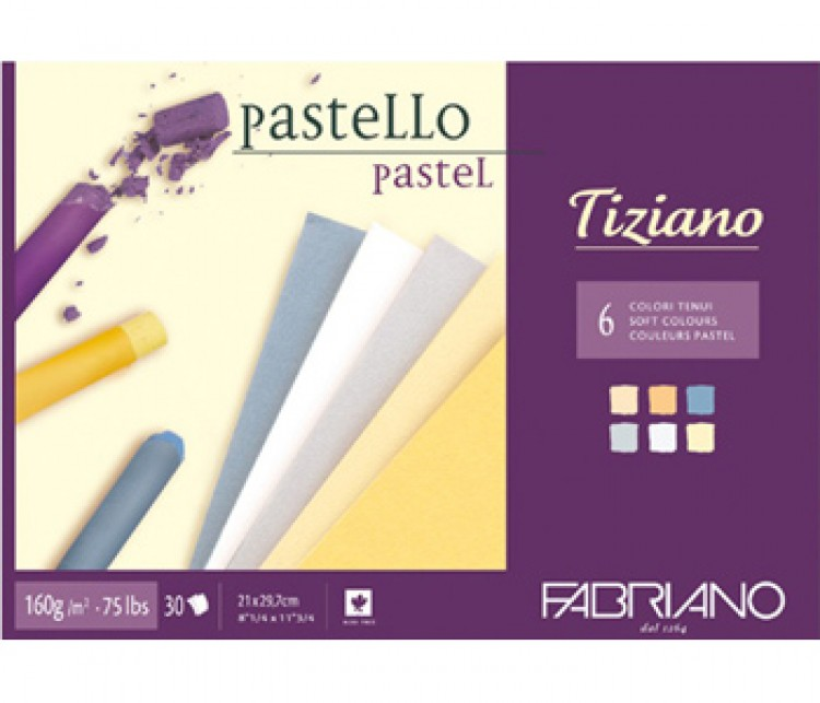 Fabriano : Tiziano : Pastel Pad : A4 : 30 Sheets : 6 Assorted Soft Colours