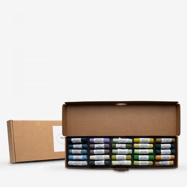 Mount Vision Soft Pastel : Set of 25 : Workshop Selection E
