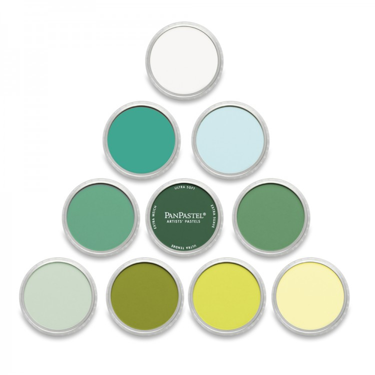 PanPastel : Set : Greens : 10 Colours