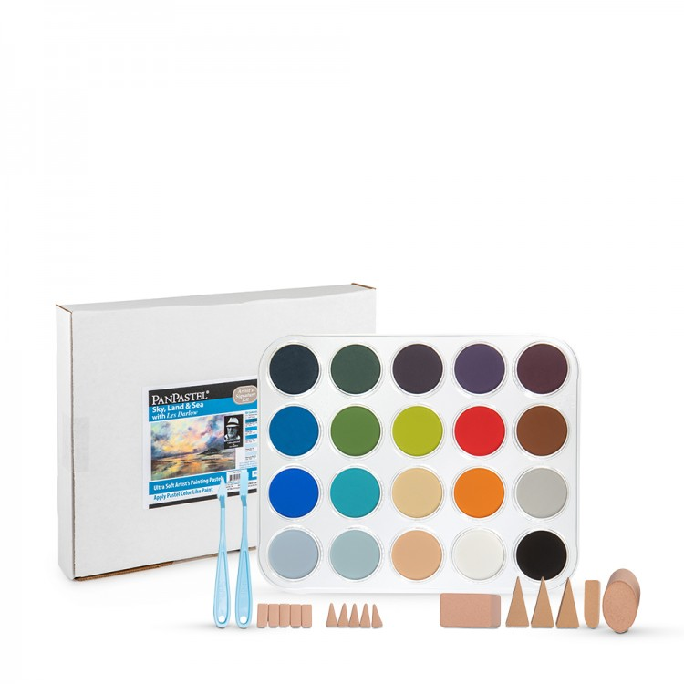 PanPastel : Sky, Lands & Sea With Les Darlow : Set of 20 Colours : Plus Tools