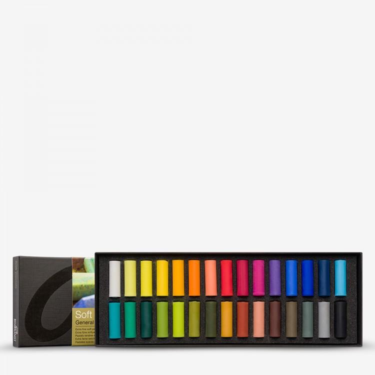 Talens : Rembrandt Soft Pastel : 30 Assorted 1/2 Stick Box Set