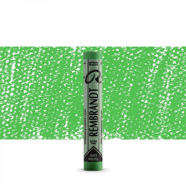 Talens : Rembrandt Soft Pastel : Permanent Green Light TR618.5
