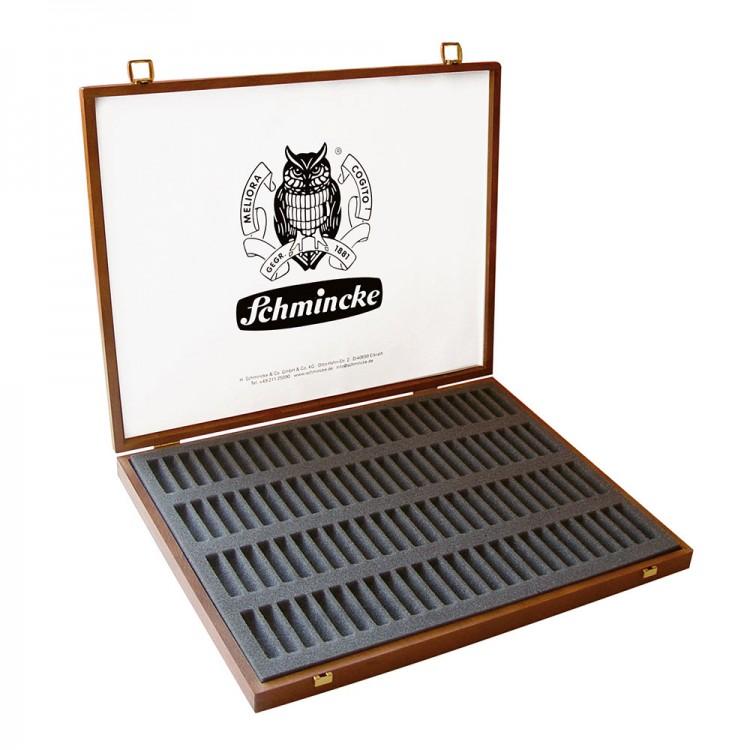 Schmincke : Empty Wooden Pastel Box : Holds 100