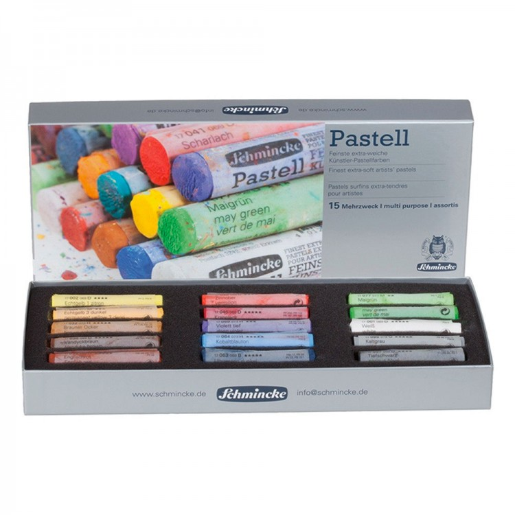 Schmincke Pastels : Set of 15 Full Sticks : New Assortment