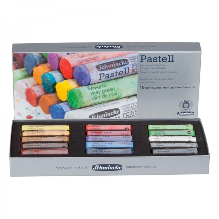 Schmincke Pastels : Set of 15 Full Sticks : New Assortment
