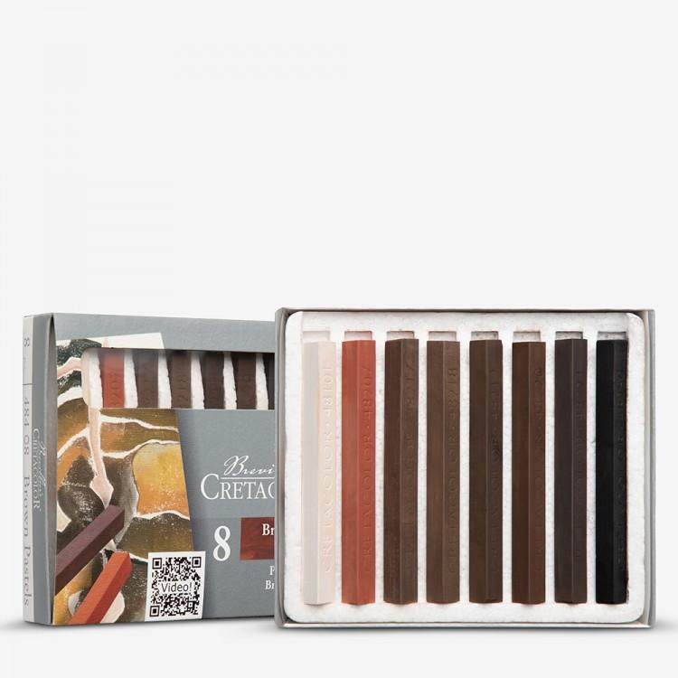 Cretacolor : Carres : Set of 8 : Hard Pastels Browns