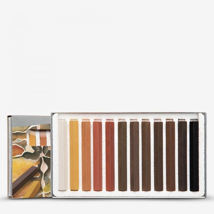 Cretacolor : Carres set of 12 Hard Pastels Browns