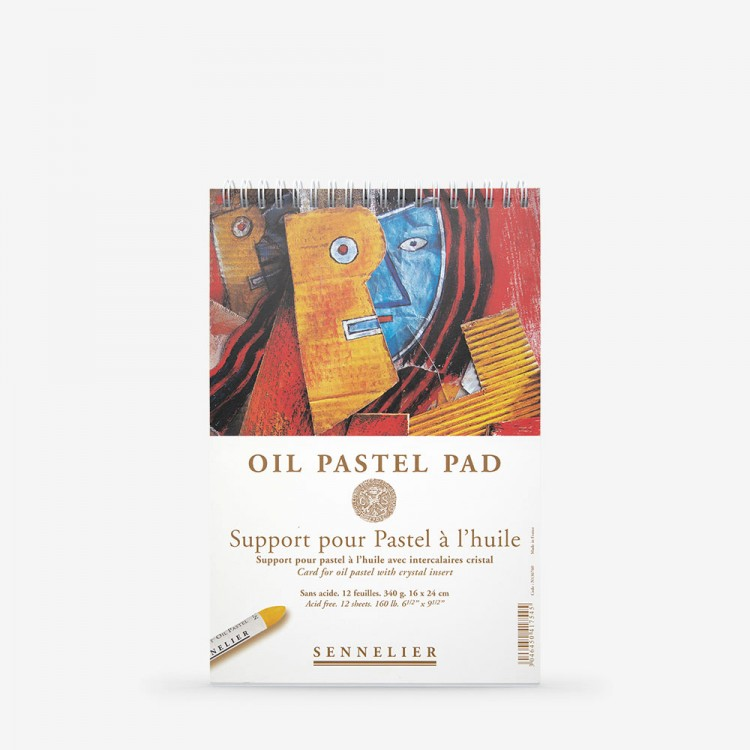 Sennelier : Oil Pastel Pad : Glassine Interleave : 340gsm : 12 Sheets : 16x24cm