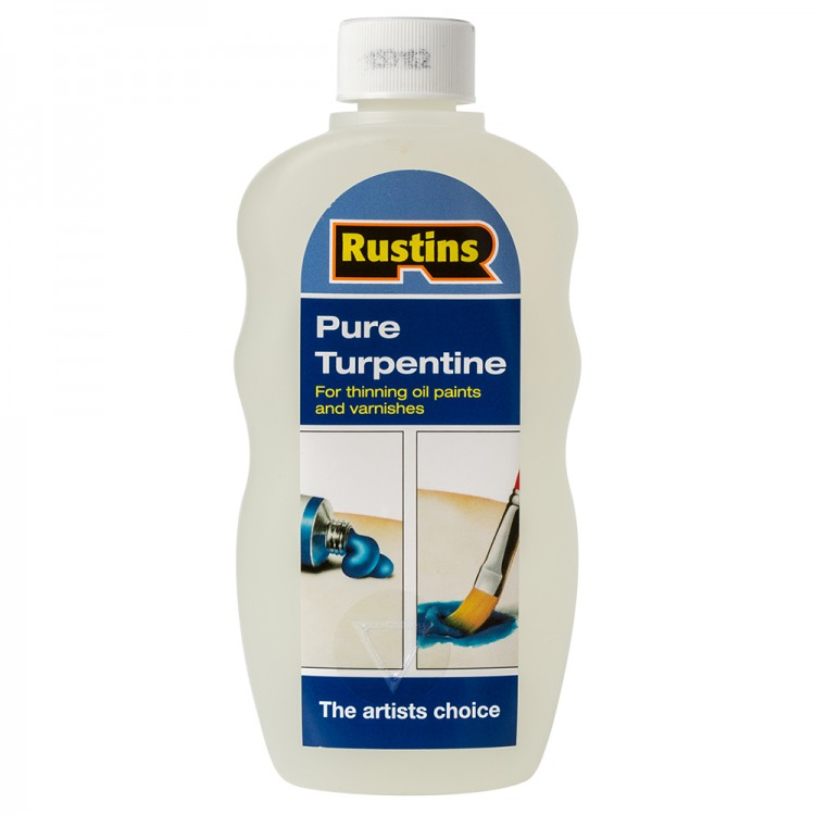Rustin's : Pure Turpentine for Artists : 300ml : By Road Parcel Only