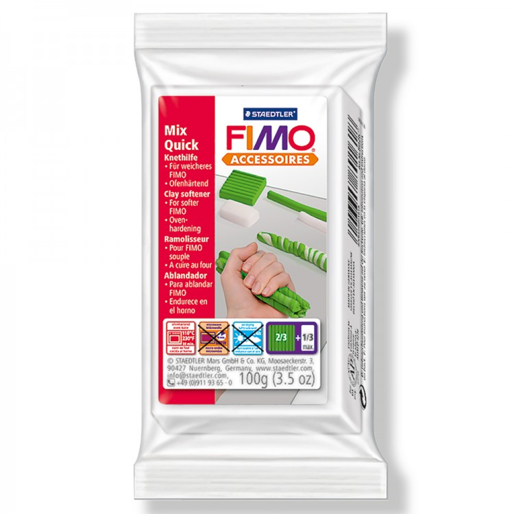 Staedtler : Fimo Mix Quick : Kneading Medium 100gm - to soften or reconstitute crumbly Fimo