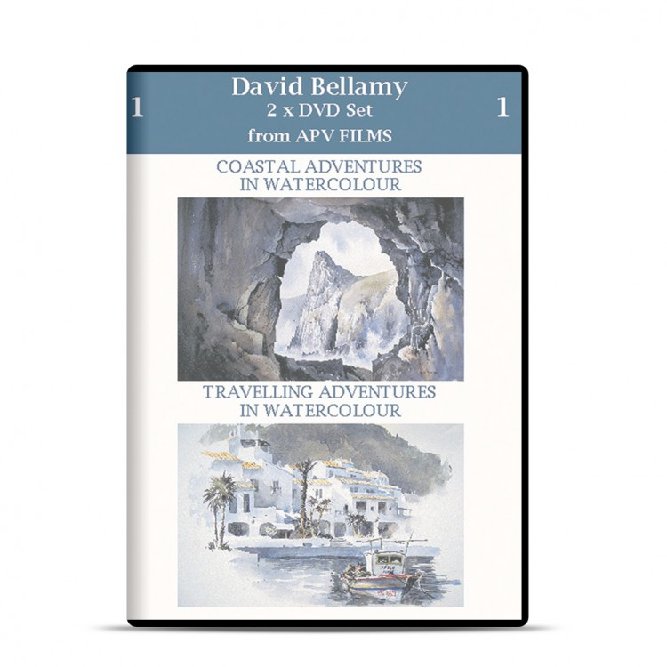 DVD : Twin Pack : Watercolour Coastal and Travelling Adventures : David Bellamy