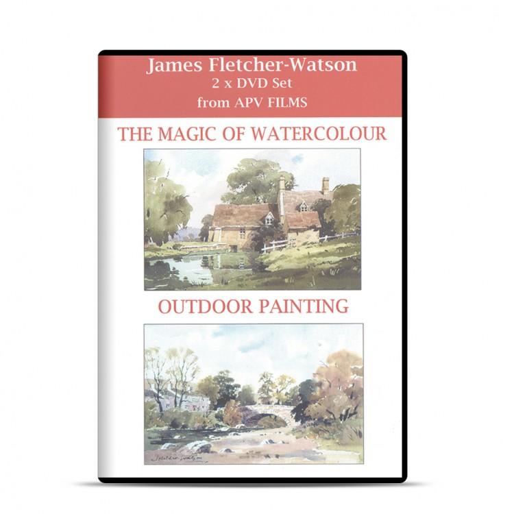 DVD : Twin Pack : The Magic of Watercolour : James Fletcher-Watson