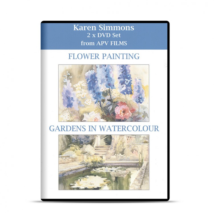 DVD : Twin Pack : Flower Painting and Gardens in Watercolour : Karen Simmons