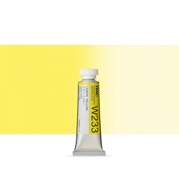Holbein Watercolour : 15ml Tube LEMON YELLOW