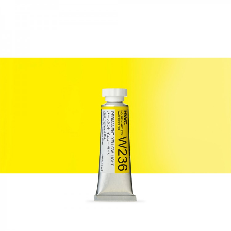 Holbein : Watercolour Paint : 15ml : Tube Permanent Yellow Light