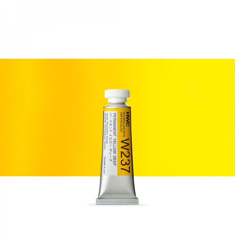 Holbein : Watercolour Paint : 15ml : Tube Permanent Yellow Deep
