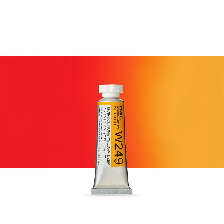 Holbein Watercolour Paint : 15ml : Isoindolinone Yellow Deep