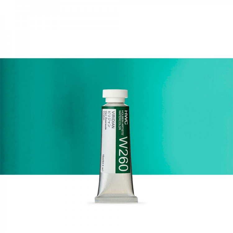 Holbein Watercolour : 15ml Tube VIRIDIAN