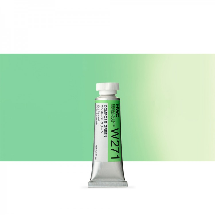 Holbein Watercolour : 15ml Tube COMPOSE GREEN 1